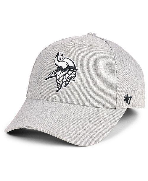 93d37184 ... '47 Brand Minnesota Vikings Heathered Black White MVP Adjustable Cap; '  ...
