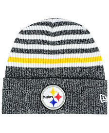 New Era Pittsburgh Steelers Striped2 Cuff Knit Hat