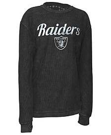 Pressbox Women's Oakland Raiders Comfy Cord Top