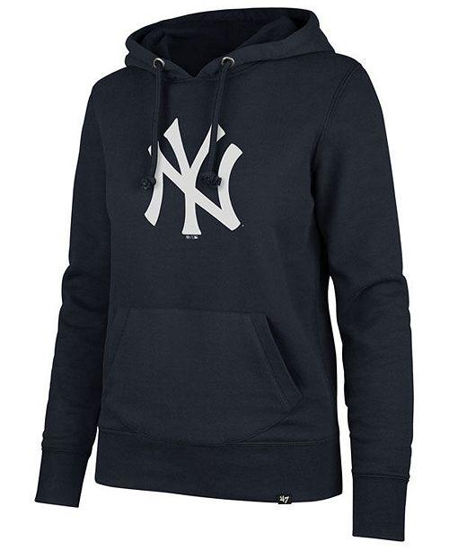official photos 376df 77b85 47 Brand Women's New York Yankees Imprint Headline Hoodie ...