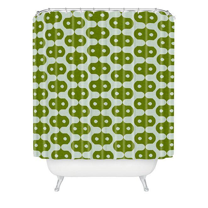 Deny Designs Holli Zollinger Climbing Green Shower Curtain