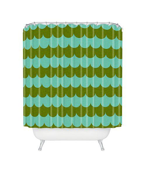 Deny Designs Holli Zollinger Waves Of Color Shower Curtain