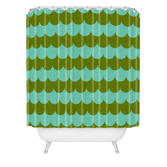 Deny Designs Holli Zollinger Waves Of Color Shower Curtain
