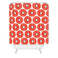 Holli Zollinger Coral Pop Shower Curtain