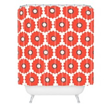 Deny Designs Holli Zollinger Coral Pop Shower Curtain