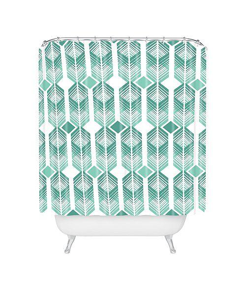 Heather Dutton De Lux Mint Shower Curtain