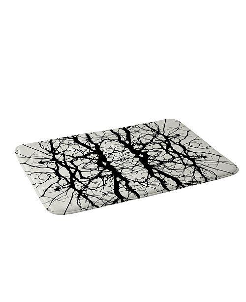 Deny Designs Holli Zollinger Tree Silhouette Black Bath Mat