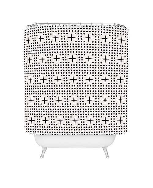 Deny Designs Holli Zollinger Dot And Plus Mudcloth Shower Curtain