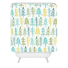 Heather Dutton Oh Christmas Tree Frost Shower Curtain