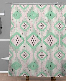 Holli Zollinger Talulah Ikat Shower Curtain