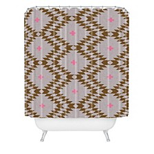 Holli Zollinger Native Natural Plus Pink Shower Curtain
