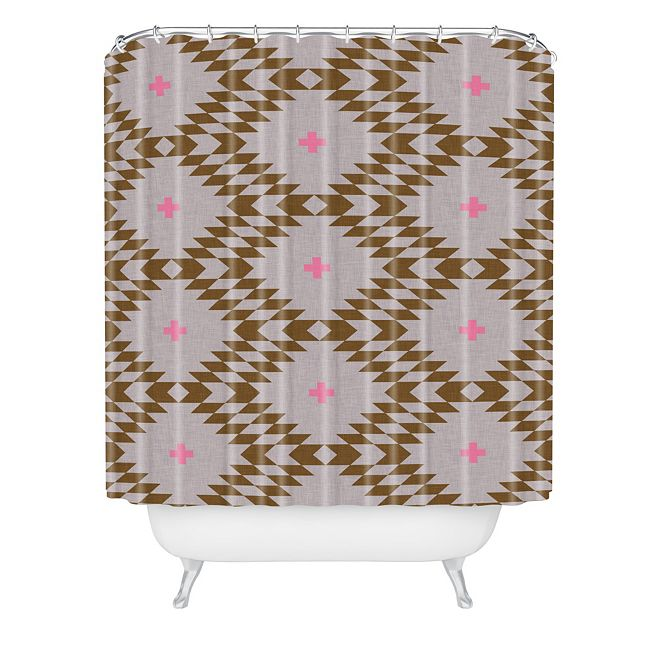 Deny Designs Holli Zollinger Native Natural Plus Pink Shower Curtain