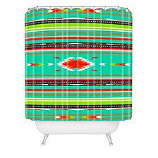 Deny Designs Holli Zollinger Kawa Turquoise Blanket Shower Curtain