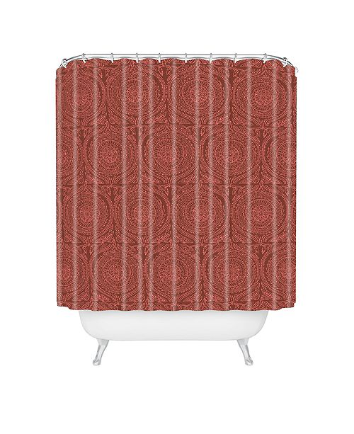 Deny Designs Holli Zollinger Anthology Of Pattern Elle Sundial Maroon Shower Curtain