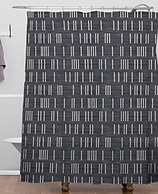 Holli Zollinger Bogo Denim Mudcloth Shower Curtain