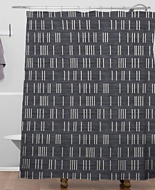 Deny Designs Holli Zollinger Bogo Denim Mudcloth Shower Curtain