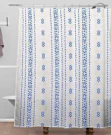 Holli Zollinger French Linen Boho Stripe Shower Curtain