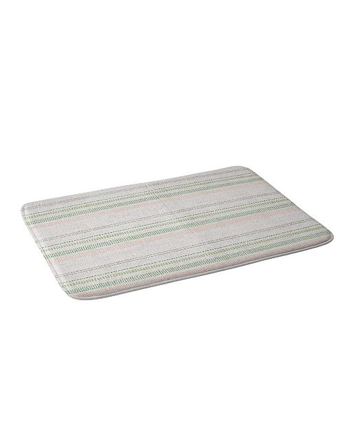 Deny Designs Holli Zollinger French Linen Stripe Blush Bath Mat