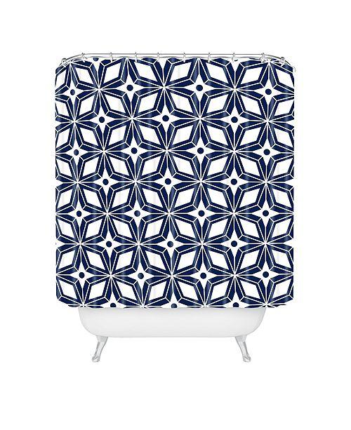 Deny Designs Heather Dutton Starbust Navy Shower Curtain