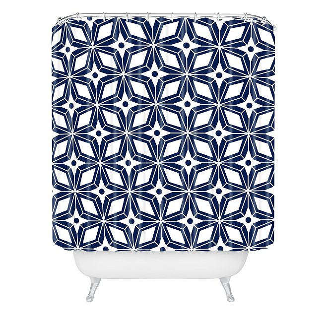 Deny Designs Heather Dutton Starbust Navy Shower Curtain