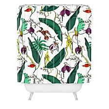 Holli Zollinger Orchid Garden Shower Curtain