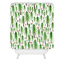 Deny Designs Heather Dutton Christmas Tree Farm Shower Curtain