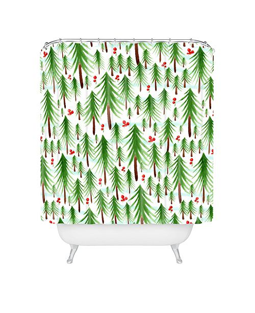 Deny Designs Heather Dutton Christmas Tree Farm Shower Curtain