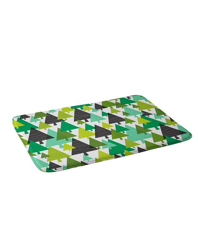 Deny Designs Heather Dutton Winter Woods Green Bath Mat