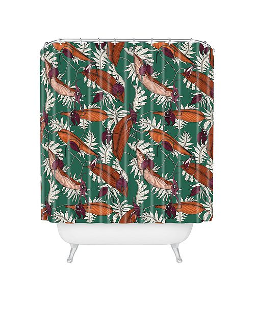 Deny Designs Holli Zollinger Urban Jungle Orchid Shower Curtain