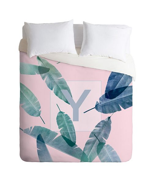 Deny Designs Iveta Abolina Peaches N Cream Y Twin Duvet Set