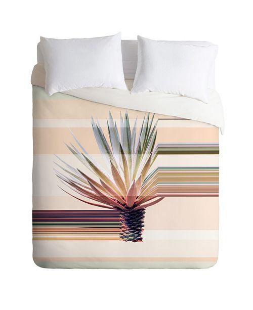 Deny Designs Iveta Abolina Agave Stripe Twin Duvet Set