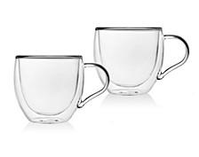 Set of 2 Double Wall Espresso Mugs