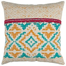 """22"""" x 22"""" Geometrical Design Poly Filled Pillow"""