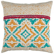 "Rizzy Home 22"" x 22"" Geometrical Design Poly Filled Pillow"