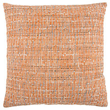 "Rizzy Home 22"" x 22"" Heathered Poly Filled Pillow"