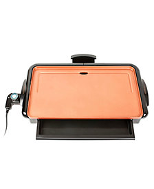 Nostalgia Non-Stick Copper Griddle With Warming Drawer