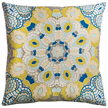 "Rizzy Home Blue 20"" X 20"" Medallion Poly Filled Pillow"