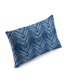 Zuo Dark Blue Ikat Pillow