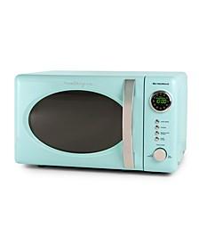 RMO7AQ Retro 0.7 Cubic Foot 700-Watt Countertop Microwave Oven, Aqua