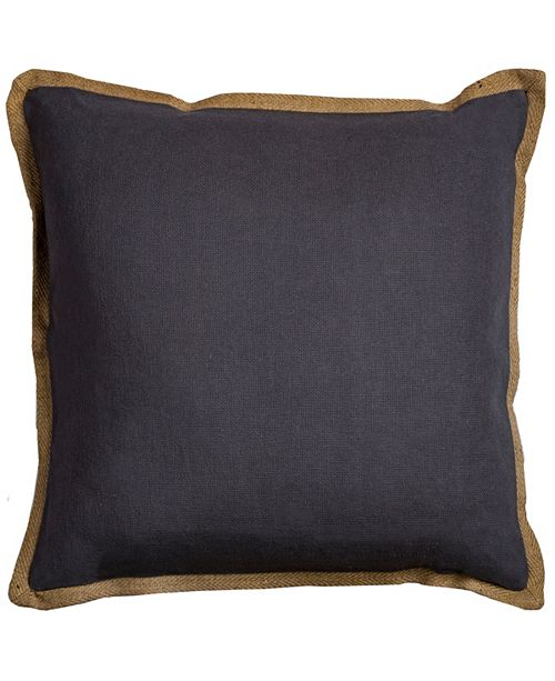 """Rizzy Home Solid 22"""" x 22"""" Poly Filled Pillow"""