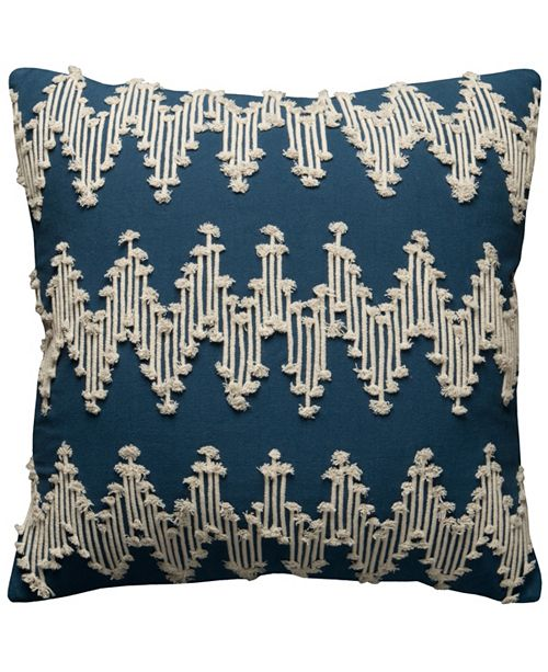 """Rizzy Home 20"""" x 20"""" Chevron Poly Filled Pillow"""