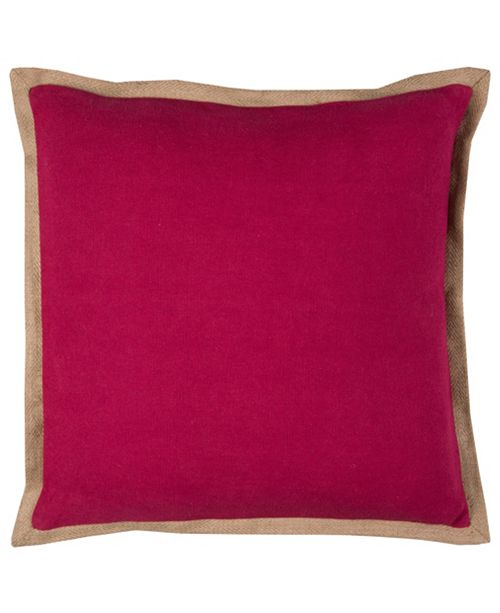 "Rizzy Home Solid 22"" x 22"" Poly Filled Pillow"