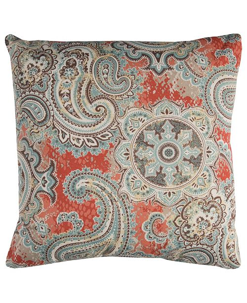 "Rizzy Home Light 22"" x 22"" Houssie Poly Filled Pillow"