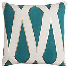 "Rachel Kate 20"" x 20"" Geometrical Design Poly Filled Pillow"