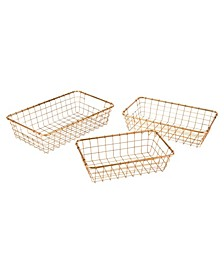 Gold Baskets, Set Of 3
