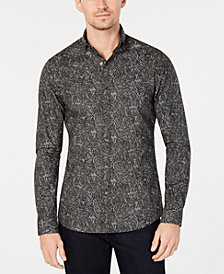 Michael Kors Men's Slim-Fit Paisley Shirt, Created for Macy's