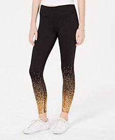 Freshman By RDG Juniors' Foil-Printed Leggings