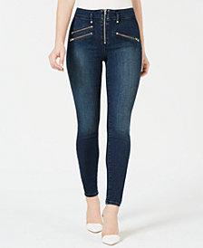 GUESS Skinny Moto Zip Jeans