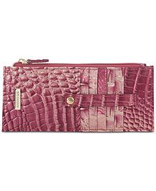 Brahmin Melbourne Credit Card Embossed Leather Wallet