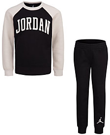 Jordan Toddler Boys 2-Pc. Arched Fleece Top & Pants Set
